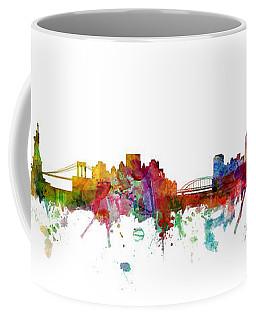 New York And Pittsburgh Skyline Mashup Coffee Mug
