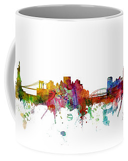 New York And Pittsburgh Skyline Mashup Coffee Mug