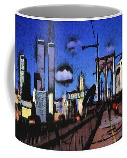 New York Blue - Modern Art Painting Coffee Mug