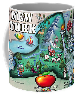 New York Cartoon Map Coffee Mug