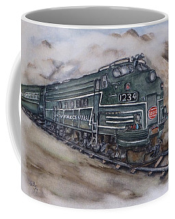 New York Central Train Coffee Mug