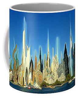 New York City Skyline 2100 - Modern Artwork Coffee Mug