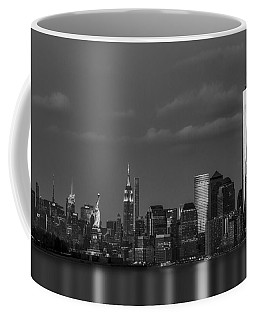 Coffee Mug featuring the photograph New York City Icons Bw by Susan Candelario
