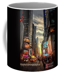 Coffee Mug featuring the photograph New York City Lights by Lois Bryan
