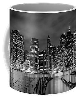 New York City Monochrome Night Impressions - Panoramic Coffee Mug
