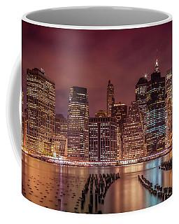 New York City Nightly Impressions - Panoramic Coffee Mug