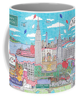 New York City On A Sunny Day Coffee Mug