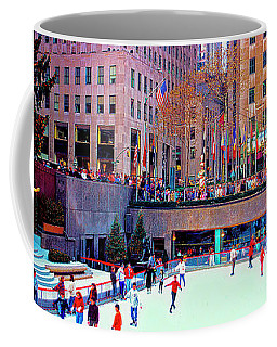 New York City Rockefeller Center Ice Rink  Coffee Mug