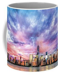 New York City Skyline Sunset Coffee Mug