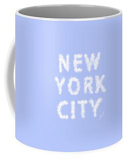 New York City Skywriting Typography Coffee Mug by Georgeta Blanaru