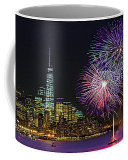 New York City Summer Fireworks Coffee Mug