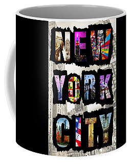 New York City Text Coffee Mug