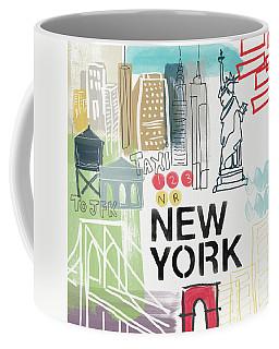 New York Cityscape- Art By Linda Woods Coffee Mug