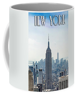 New York Classic View With Text Coffee Mug