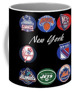 New York Professional Sport Teams Collage  Coffee Mug