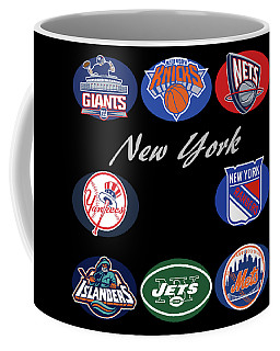 New York Professional Sport Teams Collage  Coffee Mug