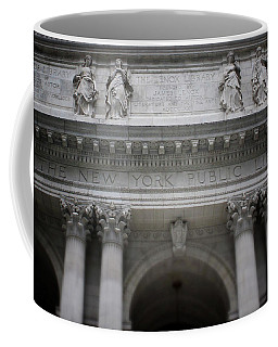 Coffee Mug featuring the mixed media New York Public Library- Art By Linda Woods by Linda Woods
