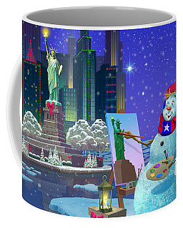 New York Snowman Coffee Mug
