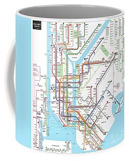 New York Subway Map Coffee Mug
