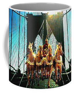 New York Time Machine - Fantasy Art Collage Coffee Mug by Art America Gallery Peter Potter