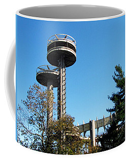 New York's 1964 World's Fair Observation Towers Coffee Mug