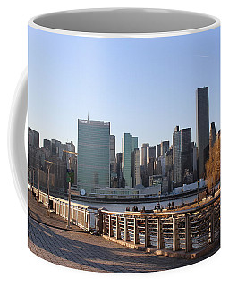New York's Skyline - A View From Gantry Plaza State Park Coffee Mug