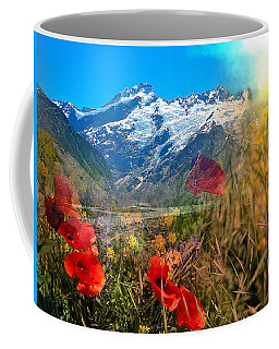 New Zealand Southern Alps Montage Coffee Mug