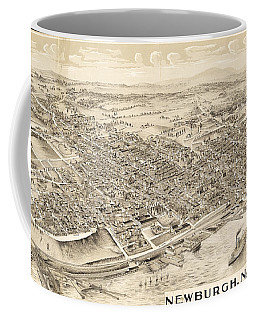 Newburgh Ny Birds Eye Drawing Coffee Mug