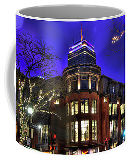 Coffee Mug featuring the photograph Newbury Street And The Prudential - Back Bay - Boston by Joann Vitali