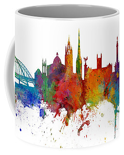 Newcastle England Skyline Custom Panoramic Coffee Mug