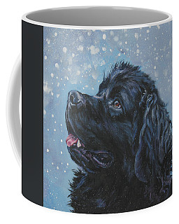 Newfoundland In Snow Coffee Mug