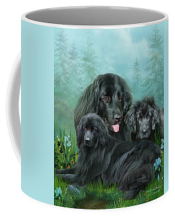 Coffee Mug featuring the mixed media Newfoundlander by Carol Cavalaris