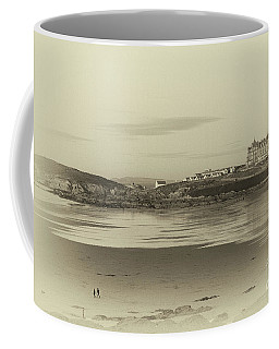 Newquay With Old Watercolor Effect  Coffee Mug by Nicholas Burningham