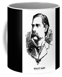 Coffee Mug featuring the mixed media Newspaper Image Of Wyatt Earp 1896 by Daniel Hagerman