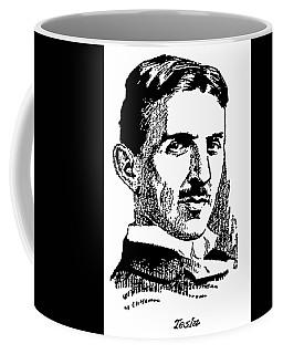 Coffee Mug featuring the digital art Newspaper Nikola Tesla  by Daniel Hagerman