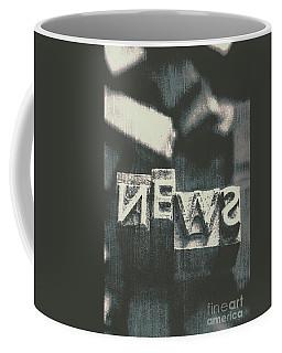Newspaper Printing Press Art Coffee Mug