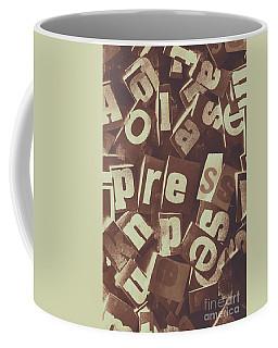 Newsprint Journalism Coffee Mug