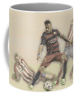 Neymar Fight For The Bal Coffee Mug