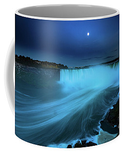 Niagara Falls And Moon  Coffee Mug