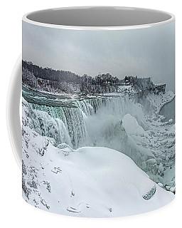 Niagara Falls Winter Close-up Coffee Mug