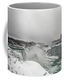 Niagara Falls Winter Wide Coffee Mug