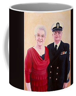 Coffee Mug featuring the painting Nichols Portrait by Mike Ivey
