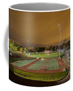 Night At The High School Basketball Court Coffee Mug