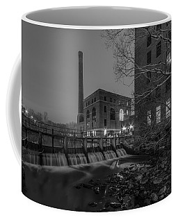 Night At The River 2 In Black And White Coffee Mug