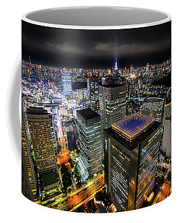 Night At Tokyo Metropolitan Government Building Coffee Mug