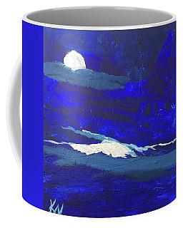 Coffee Mug featuring the painting Night Beauty by Karen Nicholson