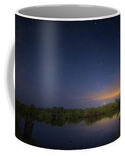 Night Brush Fire In The Everglades Coffee Mug