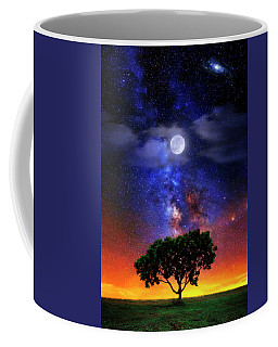 Coffee Mug featuring the photograph Night Colors by Justin Kelefas