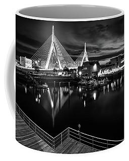 Night Falling On Zakim Bridge Coffee Mug