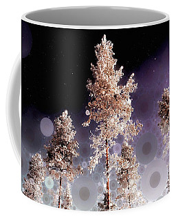 Coffee Mug featuring the mixed media Night Falling by Susan Maxwell Schmidt